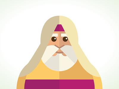 Abe christianity judaism genesis character illustration old testament old man geometric shawl beard abraham
