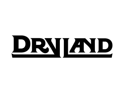 Dryland logo stoner rock album art band logo serif 1970s heavy metal lost type regina black typography identity logo