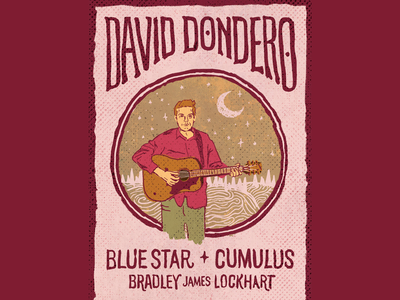 David Dondero washington bellingham singer-songwriter folk midwest portrait hand drawn hand type typography graphic design gig poster illustration