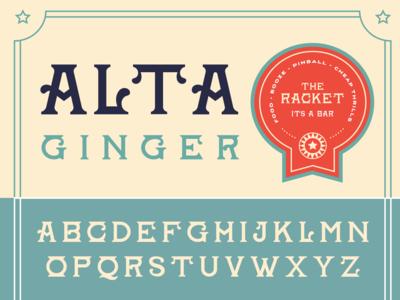 Alta Ginger Font