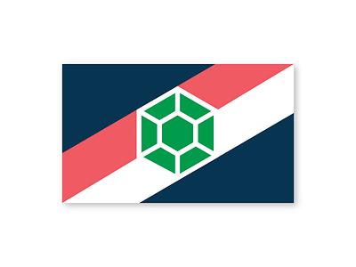 Seattle City Flag Design stripe jewelry emerald modern design geometric design washington state rebrand pnw pacific northwest flag design vexillology city flag flag seattle