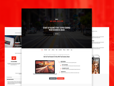 Dezure   Multi-Purpose Parallax PSD Landing Page