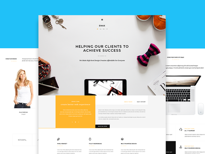 Enax - One Page MultiPurpose Parallax