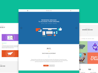 Buzz - Flat OnePage PSD Template themeforest psd template landing page onepage parallax wordpress web design pricing table photography journal gallery
