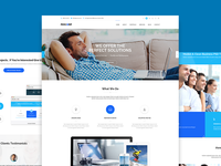 PerCorp - Multi-Purpose PSD Template  themeforest psd template landing page onepage parallax wordpress web design pricing table photography journal gallery