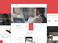Kerna - Multi-Purpose PSD Template  themeforest psd template landing page onepage parallax wordpress web design pricing table photography journal gallery