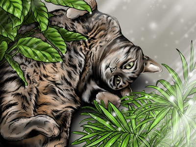 Pepper cats plants commission photshop wacom tablet wacom cintiq illustration digital art design branding