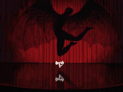 Sombra I red mood concept painting fantasy illustration fantasyart digitalart dark artwork art