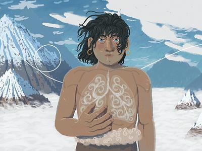 Breath mountains clouds fantasyart landscape concept illustration fantasy artwork art