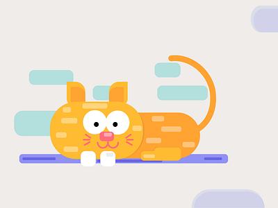 Basic Shape Cat Illustartion motion graphics ui graphic design