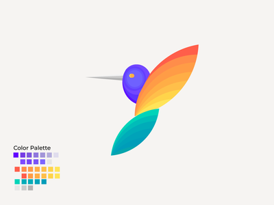 Shades of Bird logo vector ux branding illustration design ui motion graphics graphic design digitalwatercolourstokespastels
