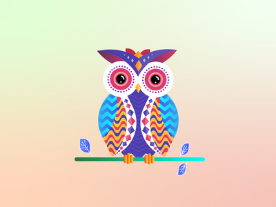 Tribal Owl illustrator ux vector logo illustration branding ui design motion graphics graphic design digitalwatercolourstokespastels
