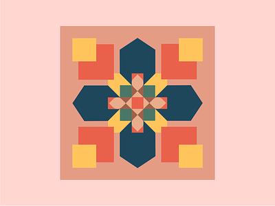 Geometric Pattern shape grid color pattern ux vector illustration design digitalwatercolourstokespastels branding motion graphics logo 3d graphic design animation ui