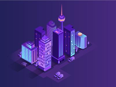 Imaginary City animation 3d logo ux vector design motion graphics illustration digitalwatercolourstokespastels branding ui graphic design
