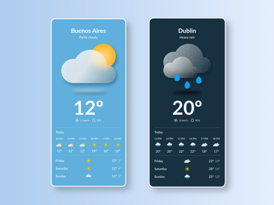 Maratón UI - Weather product design web design 2d mobile graphic design illustration weather app ui design dailyui art