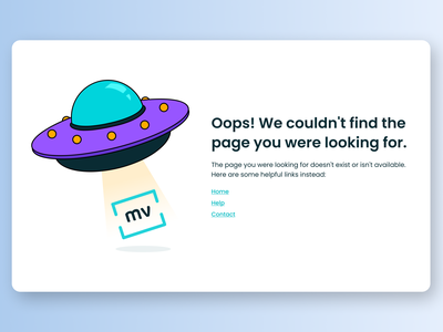 Maratón UI - 404 Page web design 404 page branding illustration desktop app ui graphic design design dailyui