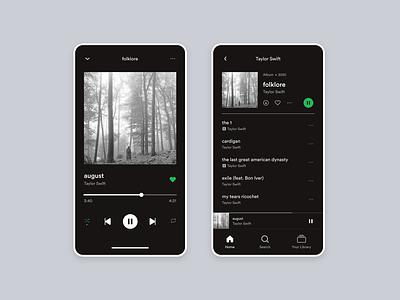 Maratón UI - Music player music player taylor swift product design 2d web design ui graphic design design dailyui