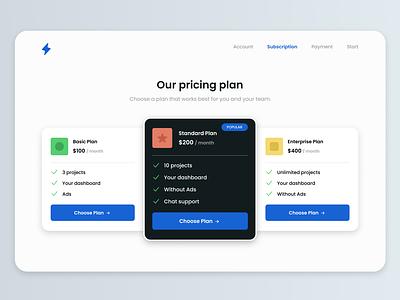 Maratón UI - Pricing pricing challenge product design ux 2d web design app ui graphic design design dailyui