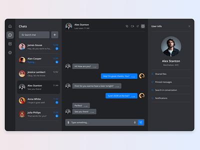 Maratón UI - Direct messaging desktop ux chat product design 2d web design app ui graphic design design dailyui