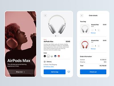 Maratón UI - Shopping cart shop e commerce product design apple airpods 2d web design app ui graphic design design dailyui