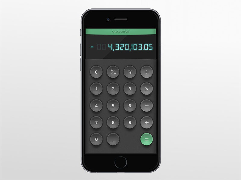 Dailyui 005 calculator