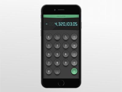 Daily UI #004—Calculator