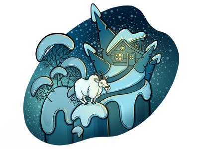 Winter goat