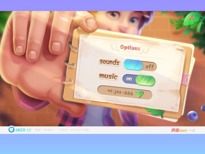 【JACK游戏UI学员作品】2D GAME UI二次元界面创意交互设计广告原画插画三维手绘图标GUI APP ICON UIUX game ui game 消除 二次元 游戏 web 图标 界面 ios design ueux icon gui ui