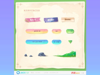 【JACK游戏UI学员作品】2D GAME UI二次元界面创意交互设计广告原画插画三维手绘图标GUI APP ICON UIUX 手绘 game illustration 二次元 game ui 游戏 design 图标 界面 ueux app gui icon ui