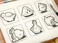 游戏ui图标 界面设计