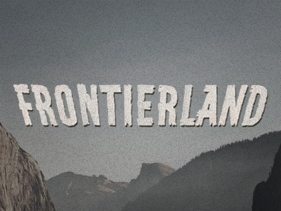Frontierland Revival  1950 disney disneyland fontierland fun revive typography wooden type wood mountains