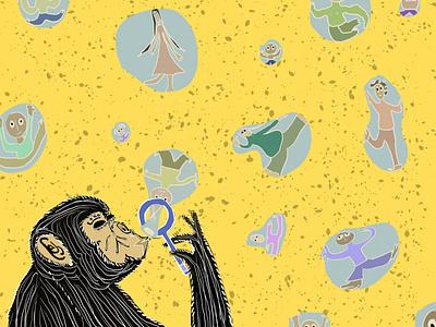 Bubbles surrealism design artwork digitalart