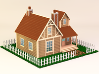 3D House with textures