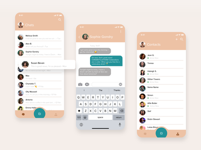 UI Design ideas for Messaging App