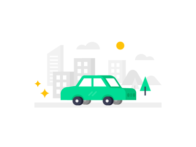 Style concept icon flat vector auto mechanic car illustration