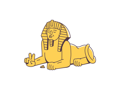 Sphinx sphinx art line vector illustration