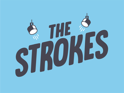 The Strokes - poster lettering band music strokes characters character line vector illustration