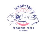 Jetsetter logo logo design character jet cartoon logo