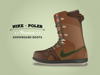 Nike & Poler Premium Snowboard boots
