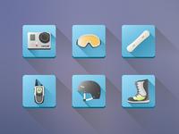 Snowboard Icons