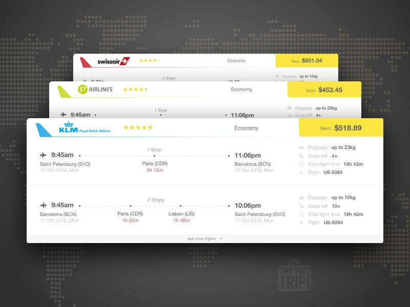 Flight Results ticket results redesign prices airlines card flights flight card flights results travel
