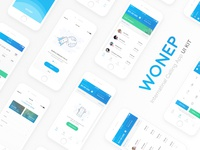 Wonep International Calling App UI Kit - Freebie