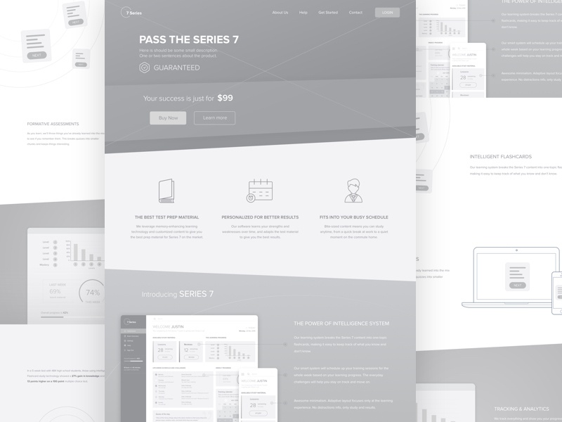Wireframes for a Home page website design create website exam learning education wireframe home home page wireframes