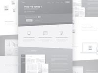 Wireframes for a Home page