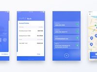 Simple bank   login screens