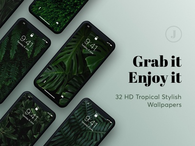 Exclusive Collection: Jungle Beauty android ios wallpaper wallpapers tropical trendy travel summer style organic mockup leaf jungle green fresh fern background