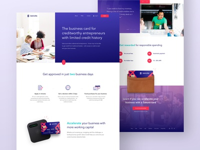 (WIP) Homepage Design for Innovative New Business Credit Card