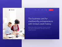 Homepage Animation for Innovative Credit Startup