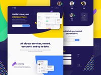 Effx Brand Identity & Website Design (3/3) landing page design animation website website design tech technology startup yellow microservices services principle engineering engineer