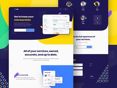Effx Brand Identity & Website Design (3/3) landing page design animation website website design tech technology startup yellow microservices services principle engineering engineer